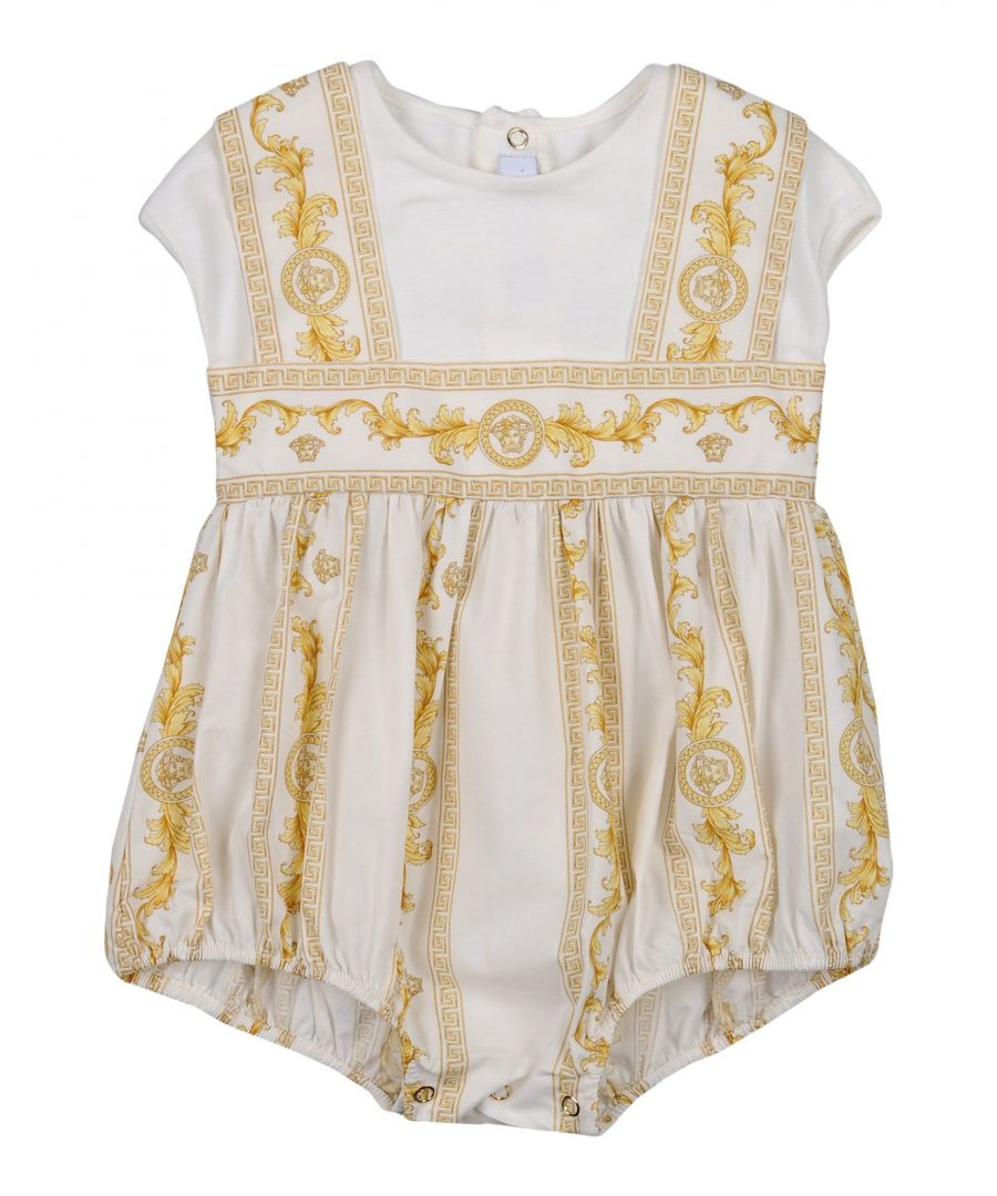 Image for Versace Young Ivory Girl Cotton Onesie