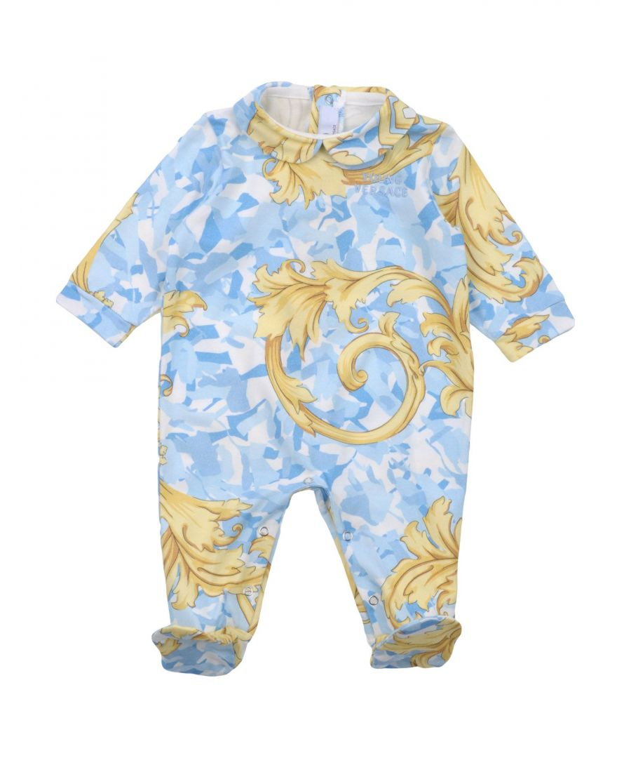 Image for BODYSUITS & SETS Versace Young Sky blue Boy Cotton