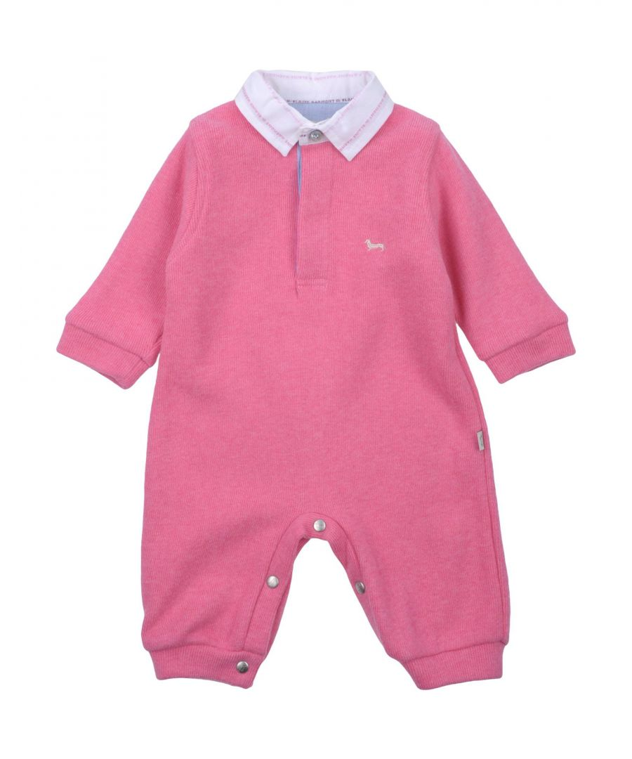 Image for Harmont&Blaine Pink Girl Cotton Onesie