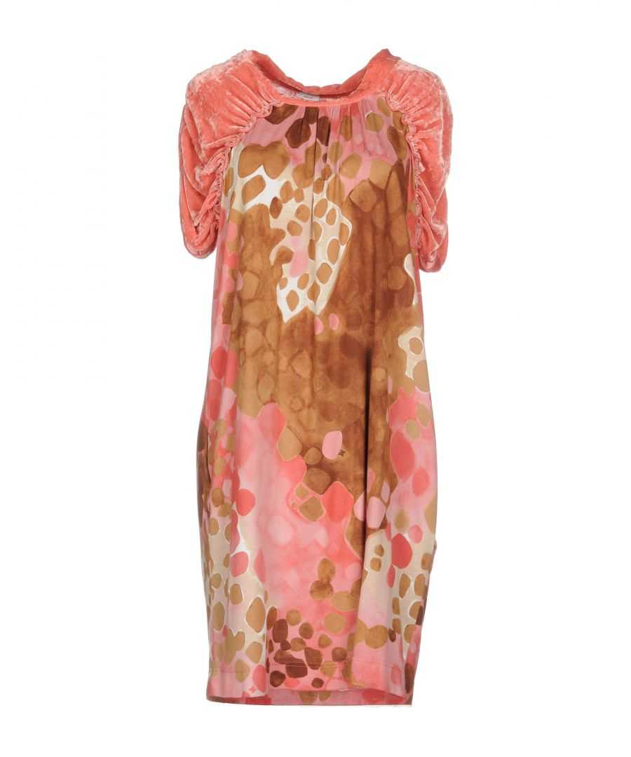Image for M Missoni Pink Print Velvet Dress
