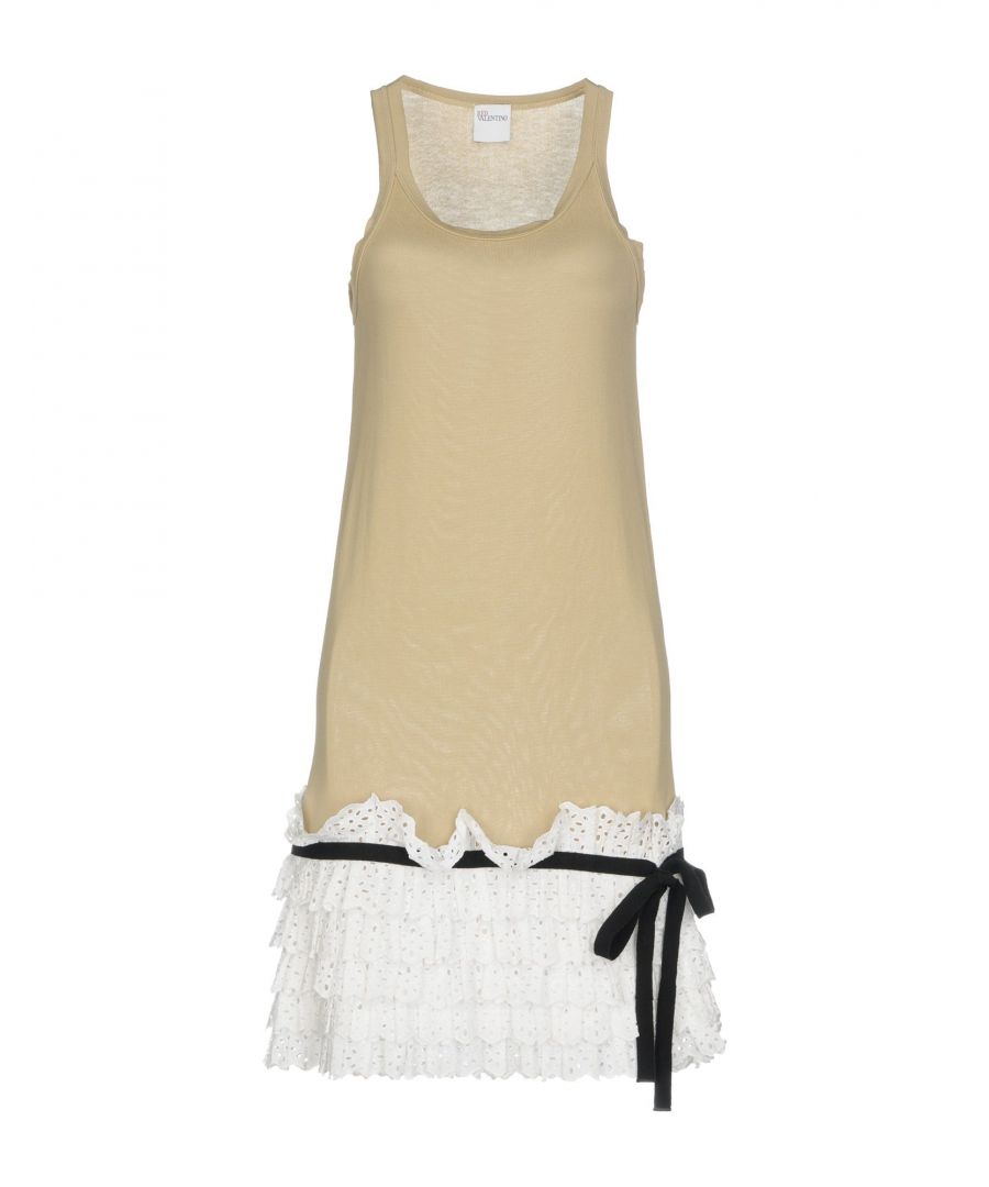 Image for Redvalentino Beige Cotton Lace Ruffle Dress