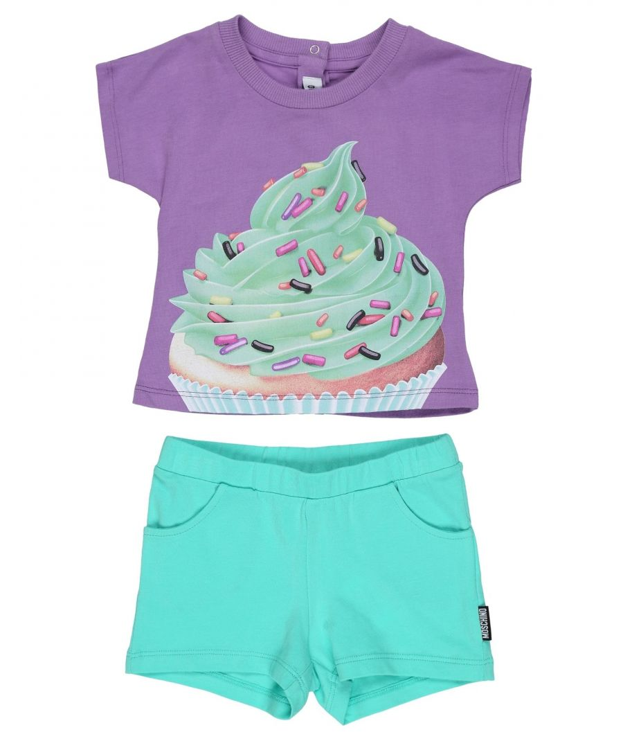 Image for Moschino Purple Girls Cotton Set
