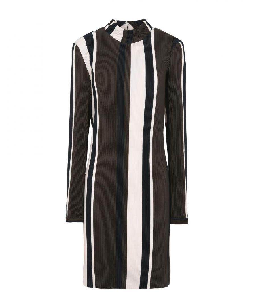 Image for Minimum Military Green Stripe Long Sleeve Dress