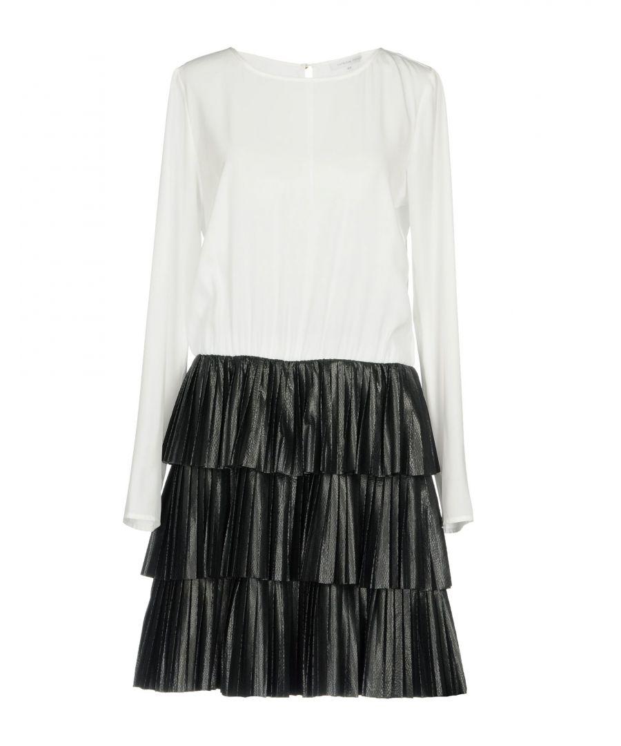 Image for Patrizia Pepe Black Contrast Faux Leather Dress