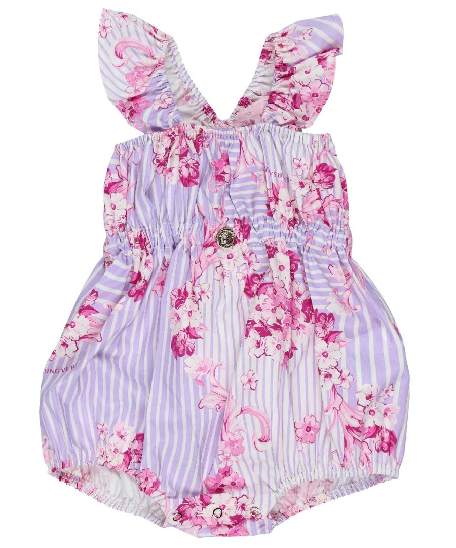 Image for Versace Young Lilac Girl Cotton Onesie