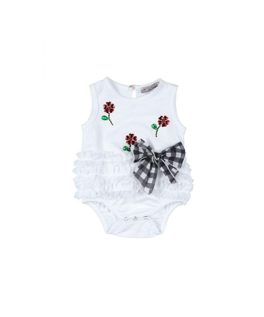 Image for BODYSUITS & SETS Monnalisa White Girl Cotton
