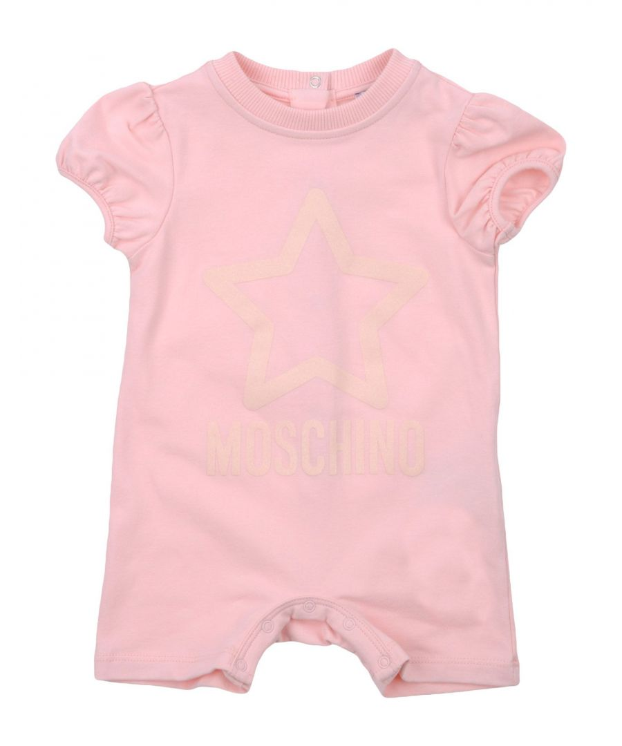 Image for Moschino Pink Girl Cotton Onesie