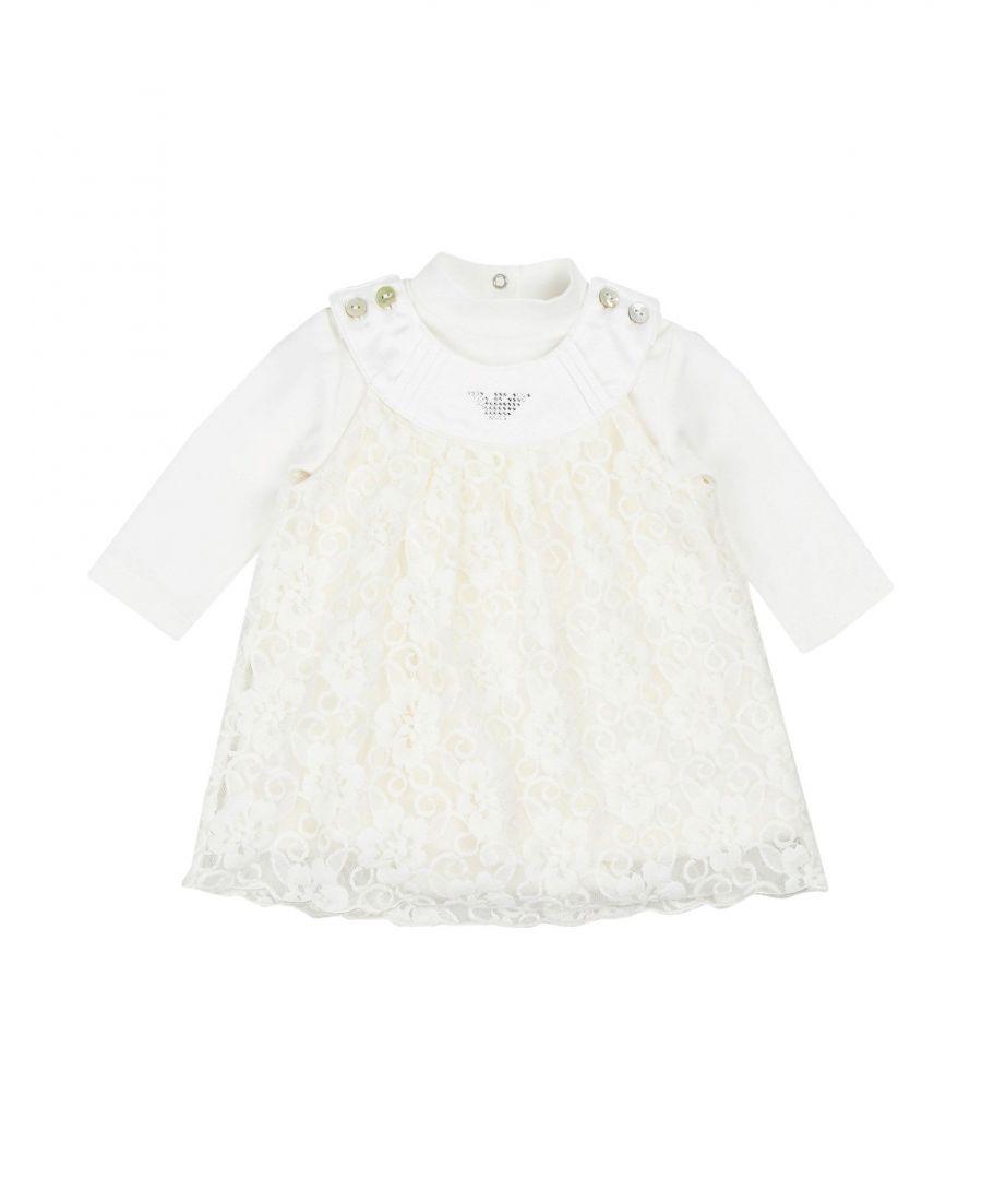 Image for Armani Junior Ivory Girls Dress/Bodysuit