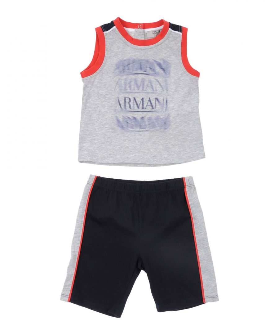 Image for BODYSUITS & SETS Armani Junior Light grey Boy Cotton