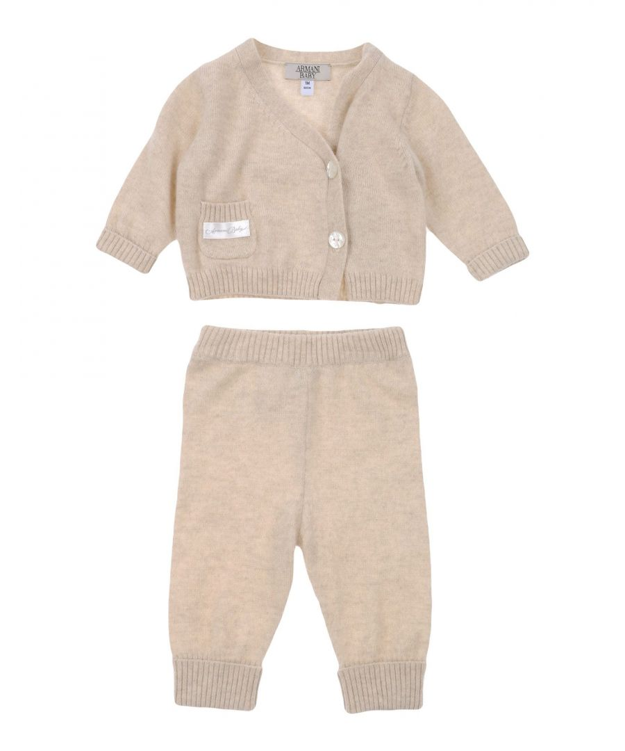 Image for BODYSUITS & SETS Armani Junior Beige Girl Cashmere