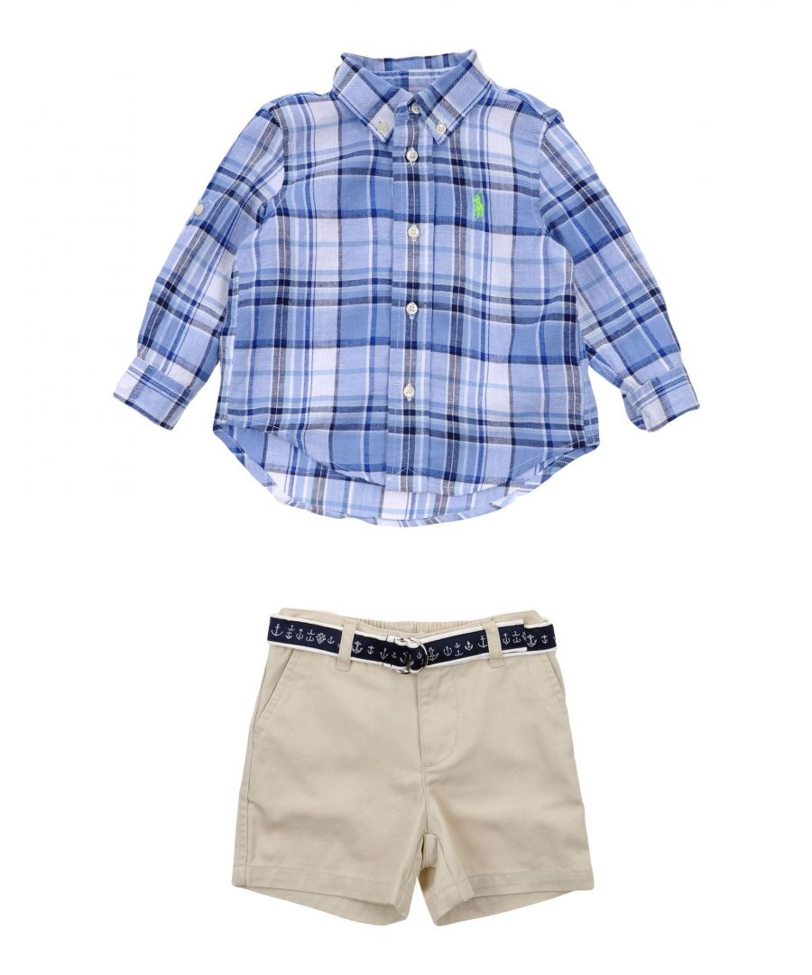 Image for BODYSUITS & SETS Ralph Lauren Azure Boy Linen