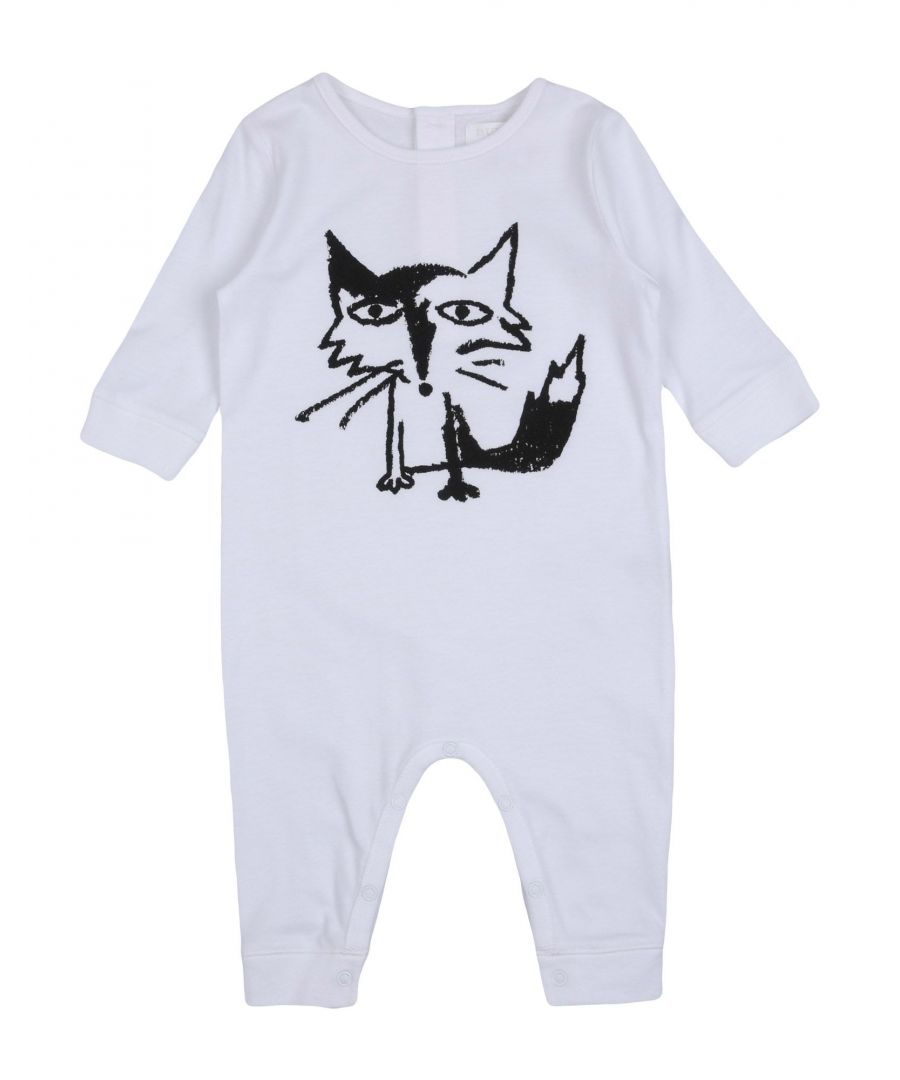 Image for Burberry White Girl Cotton Onesie