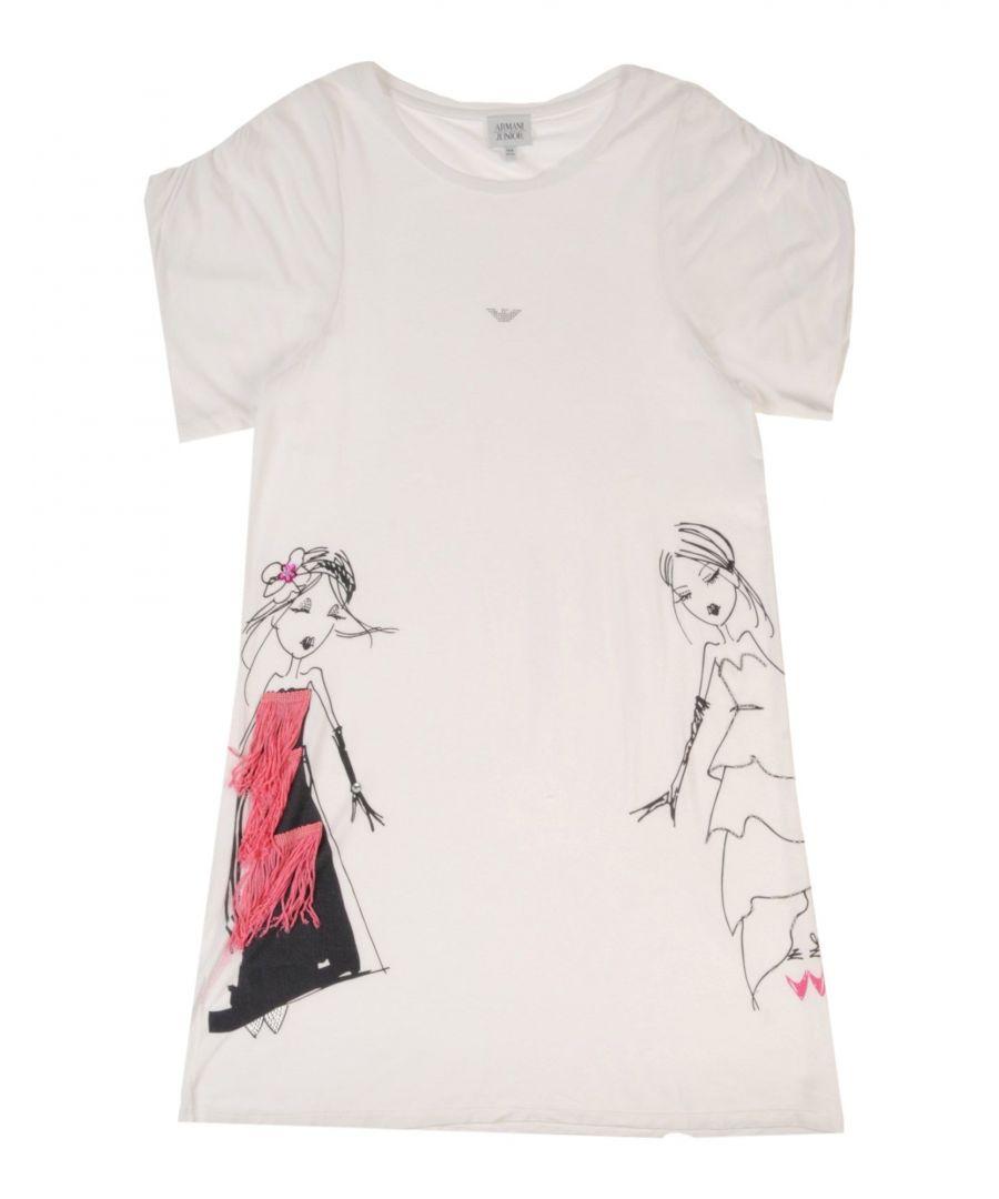 Image for DRESSES Armani Junior White Girl Viscose