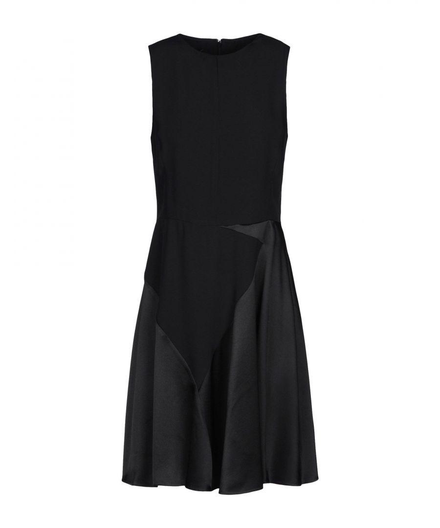 Image for Emporio Armani Black Satin Dress