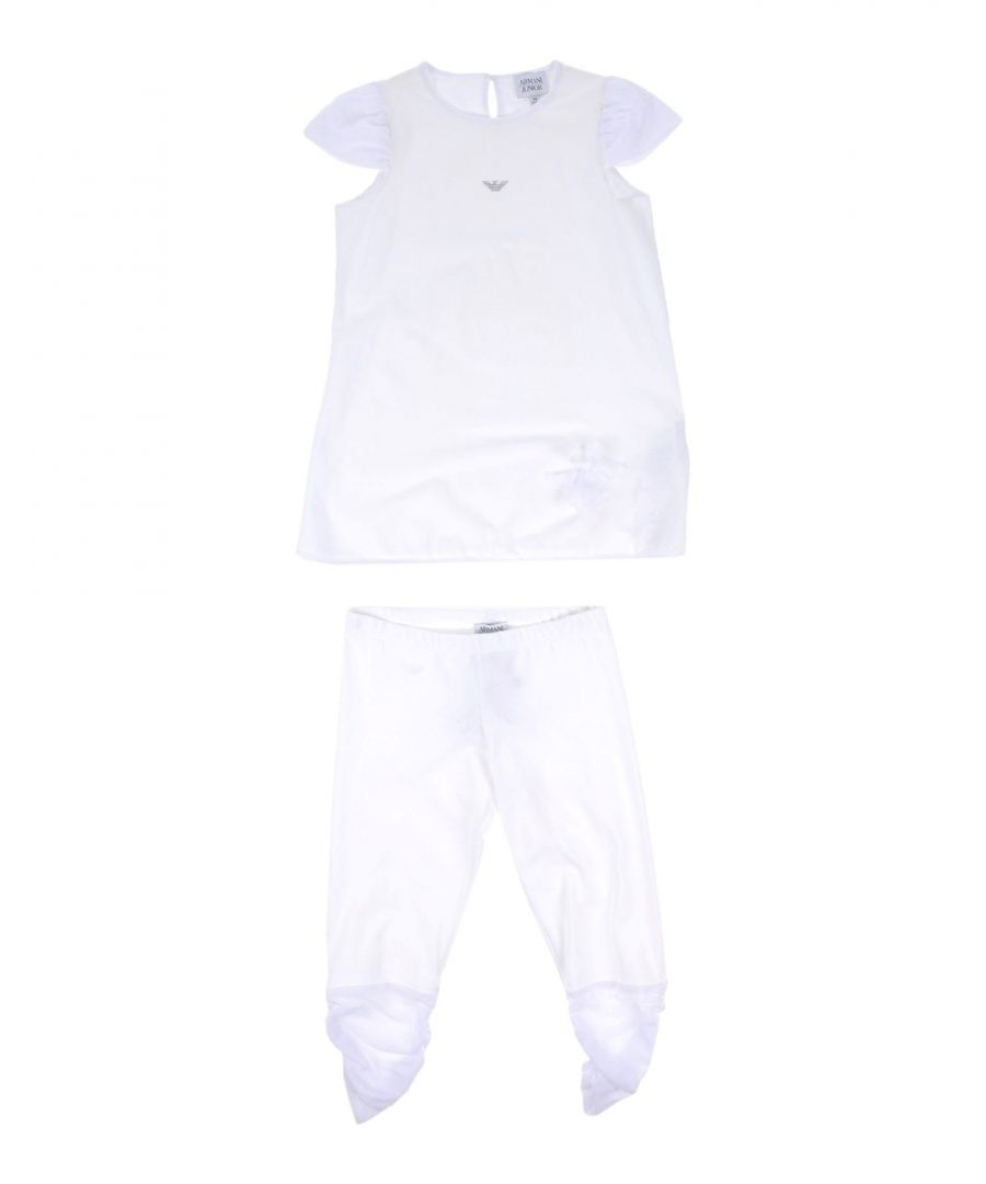 Image for SETS Armani Junior White Girl Cotton