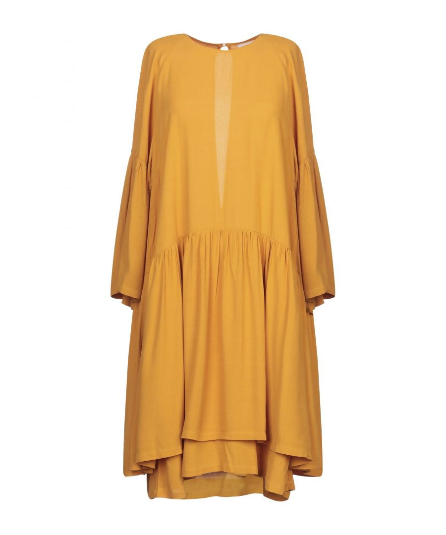 Image for Just Female Ochre Long Sleeve Dress