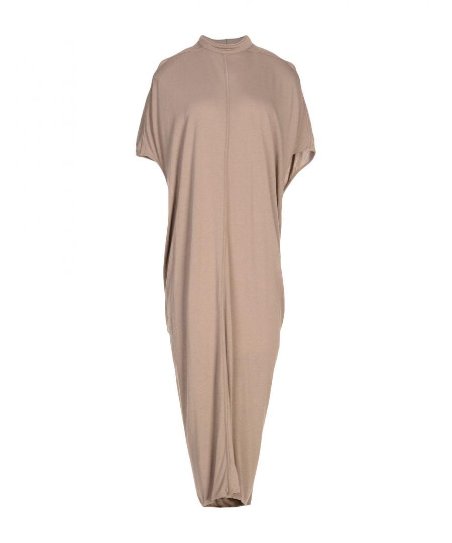Image for Rick Owens Lilies Khaki Jersey Draped Dress