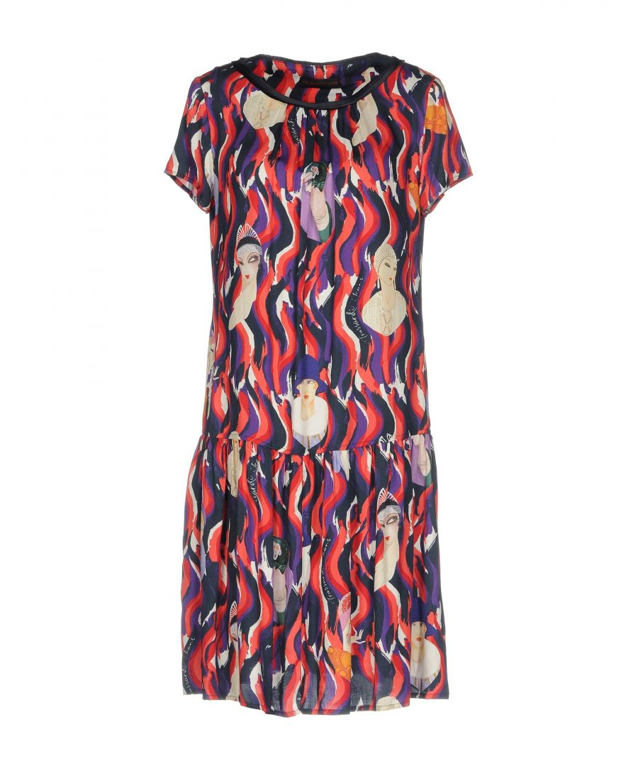Image for Trussardi Jeans Purple Print Short Sleeve Dress