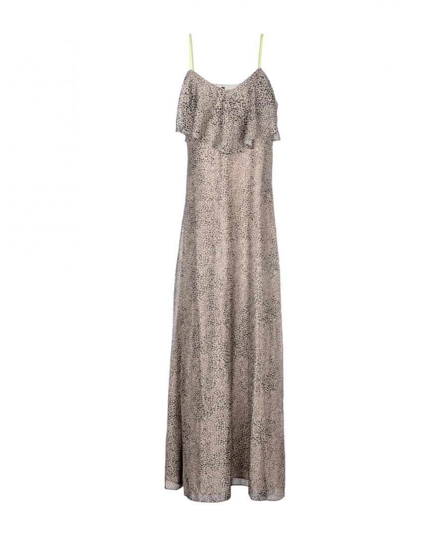 Image for Guess Military Green Ruffle Full Length Dress