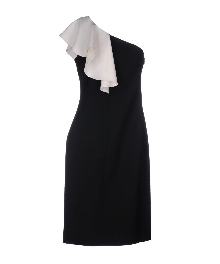 Image for Saint Laurent Black Wool Asymmetrical Dress