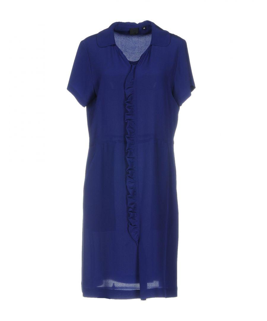 Image for Aspesi Bright Blue Silk Short Sleeve Dress