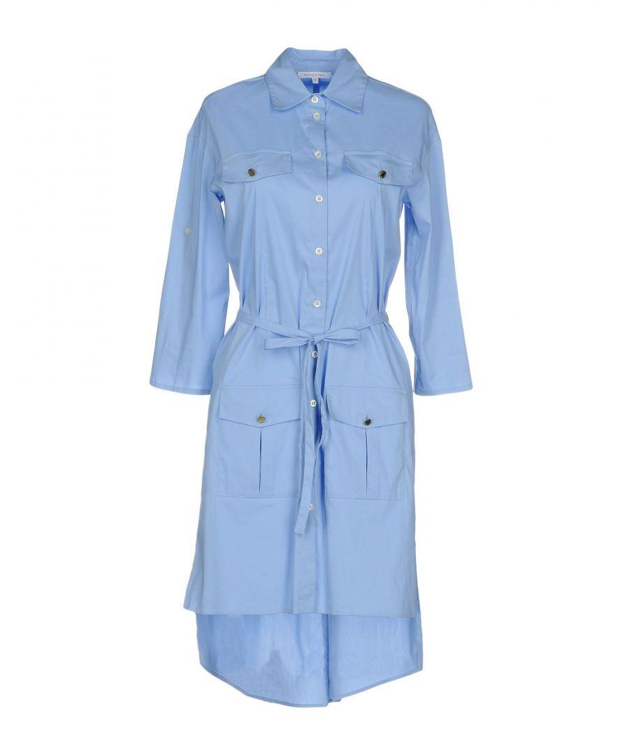 Image for Patrizia Pepe Sky Blue Cotton Shirt Dress
