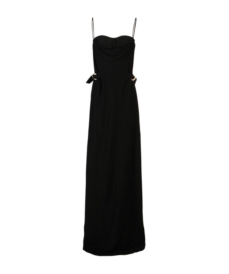Image for Amanda Wakeley Black Crepe Full Length Dress