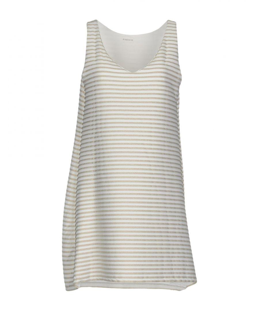 Image for Fisico White Stripe Sleeveless Dress