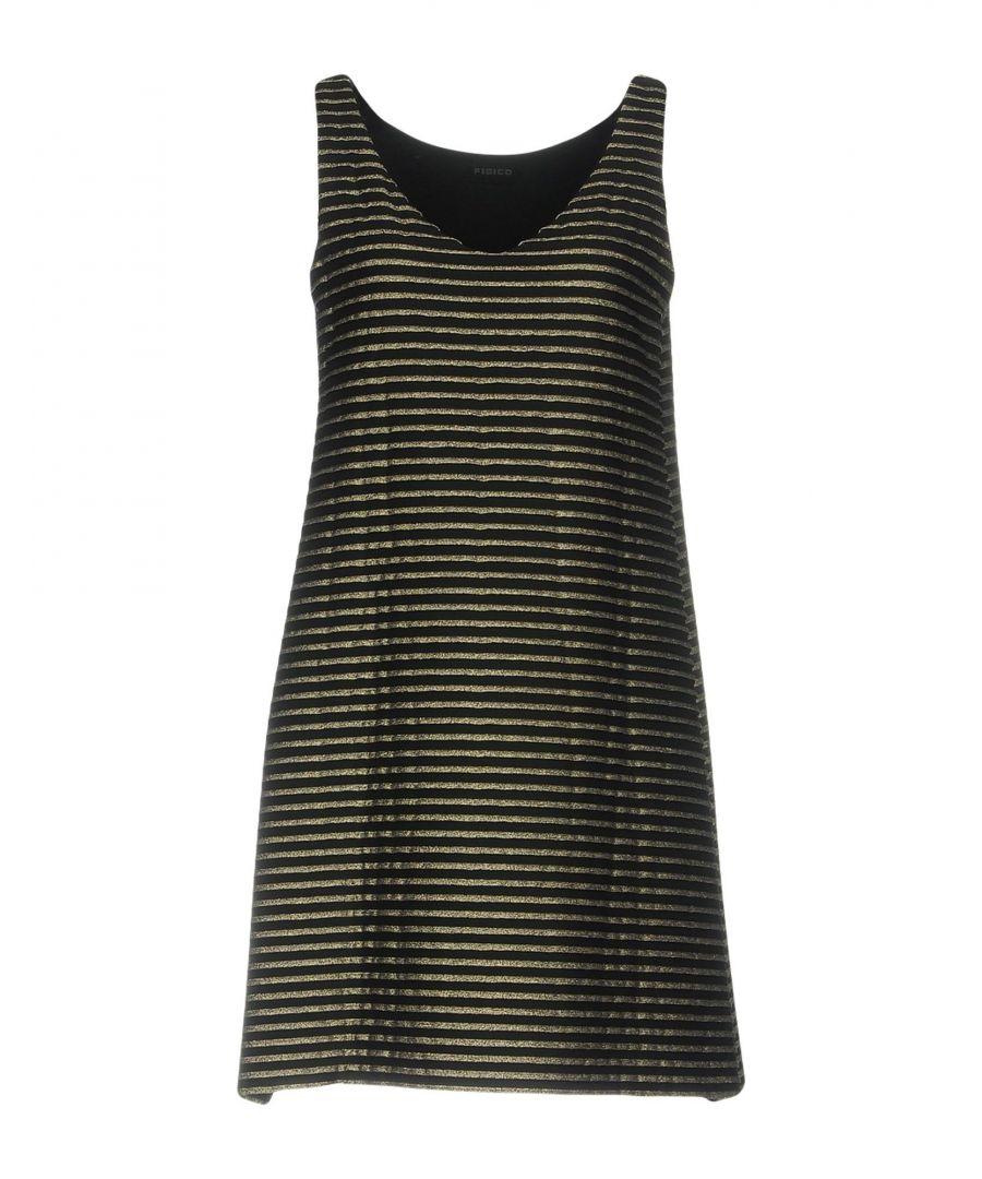 Image for Fisico Black Stripe Sleeveless Dress