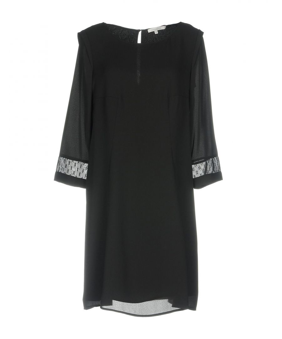 Image for Patrizia Pepe Black Crepe Three Quarter Sleeve Dress