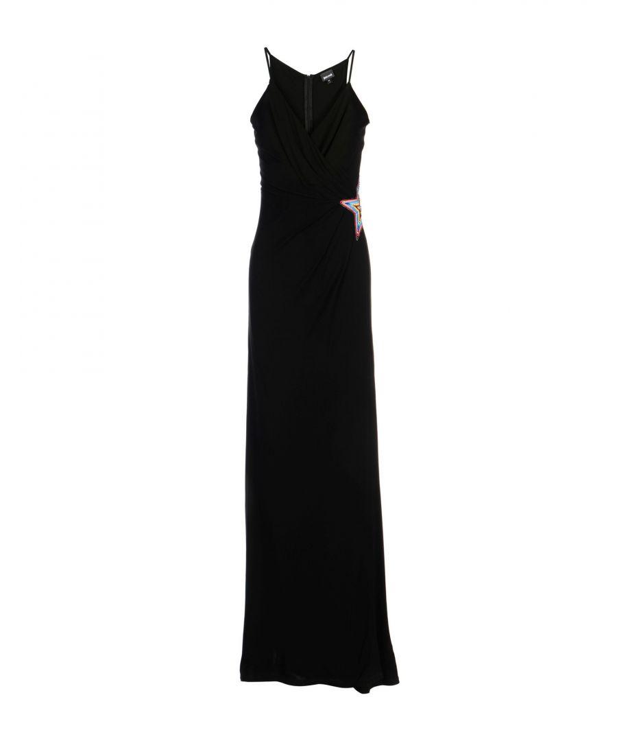 Image for Just Cavalli Black Crepe Embellished Sleeveless Full Length Dress