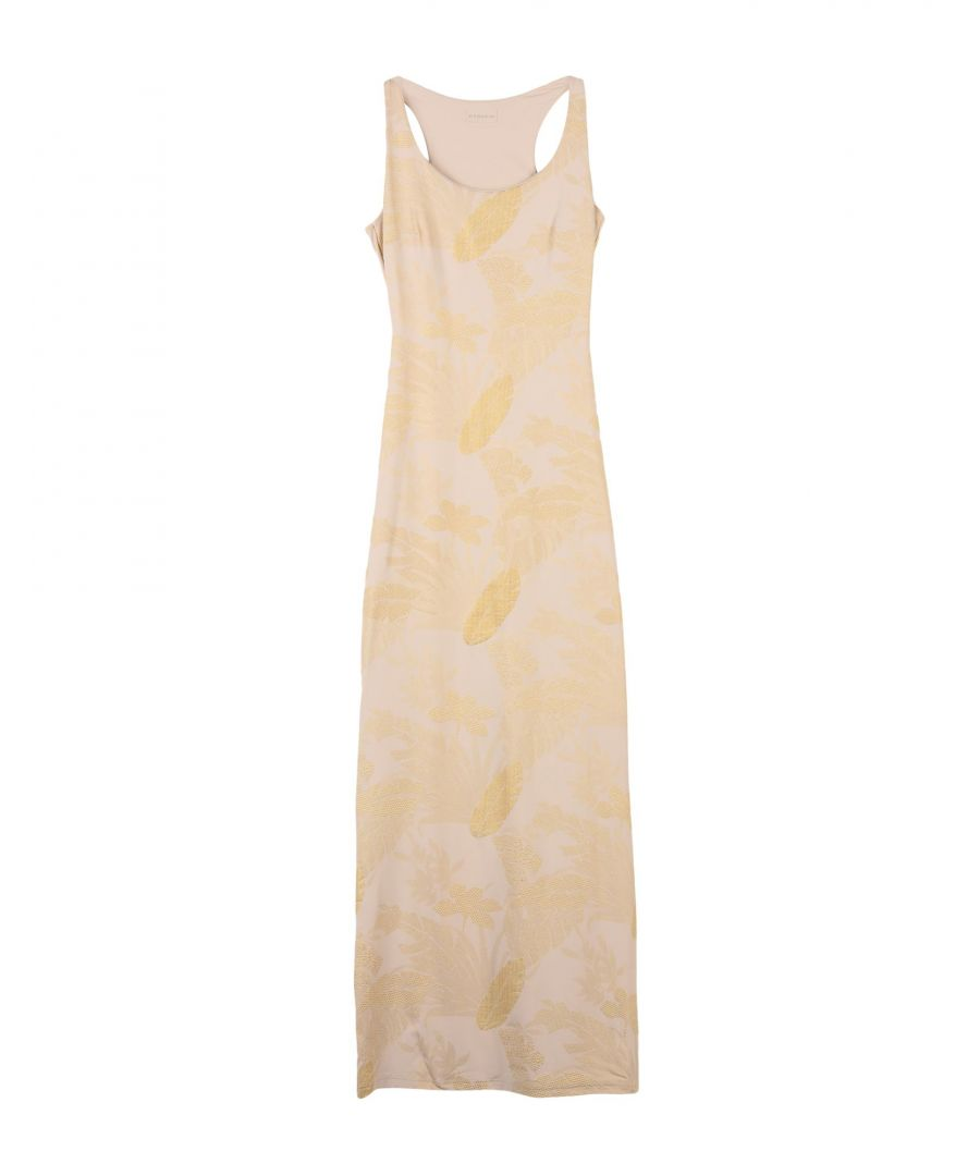 Image for Fisico Beige Jersey Full Length Dress