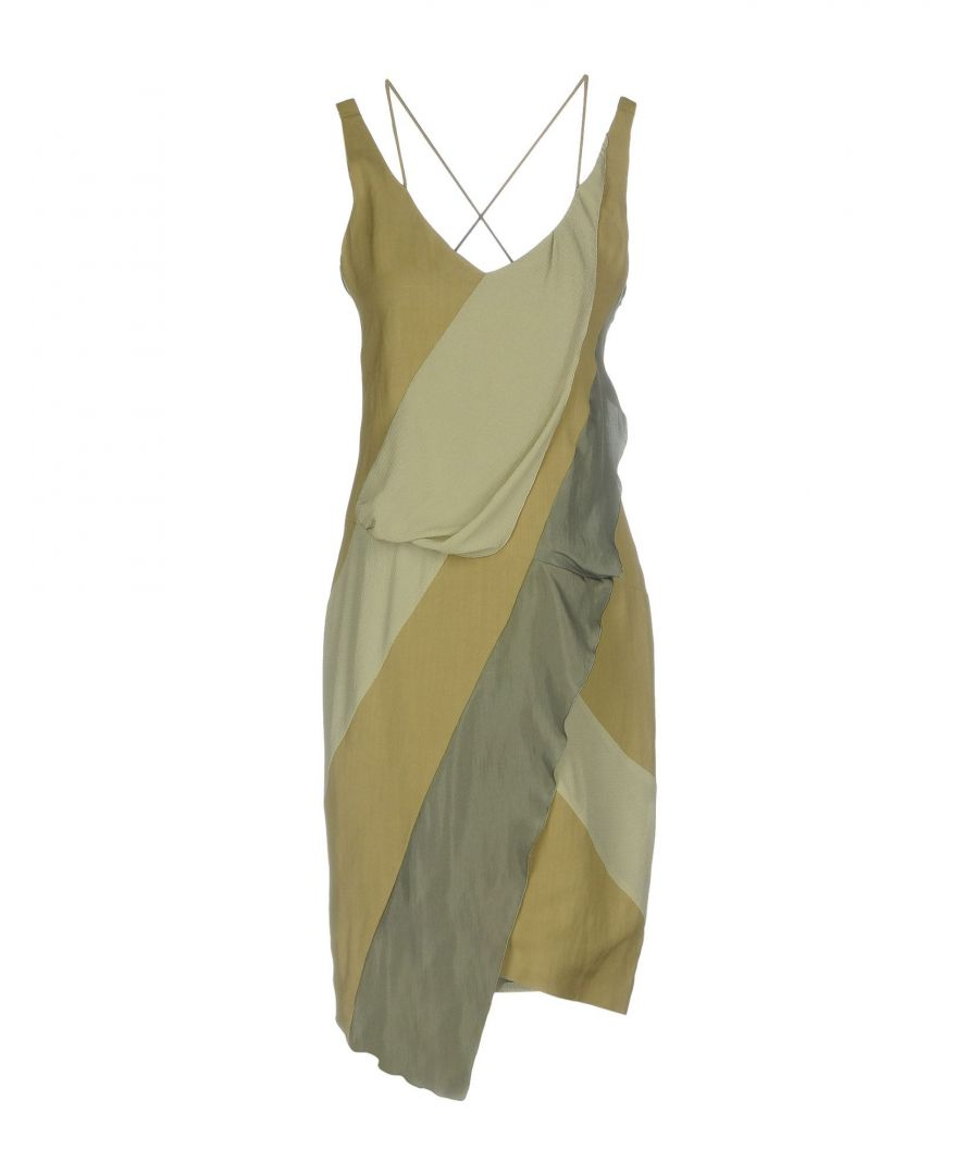 Image for Belstaff Military Green Satin Dress