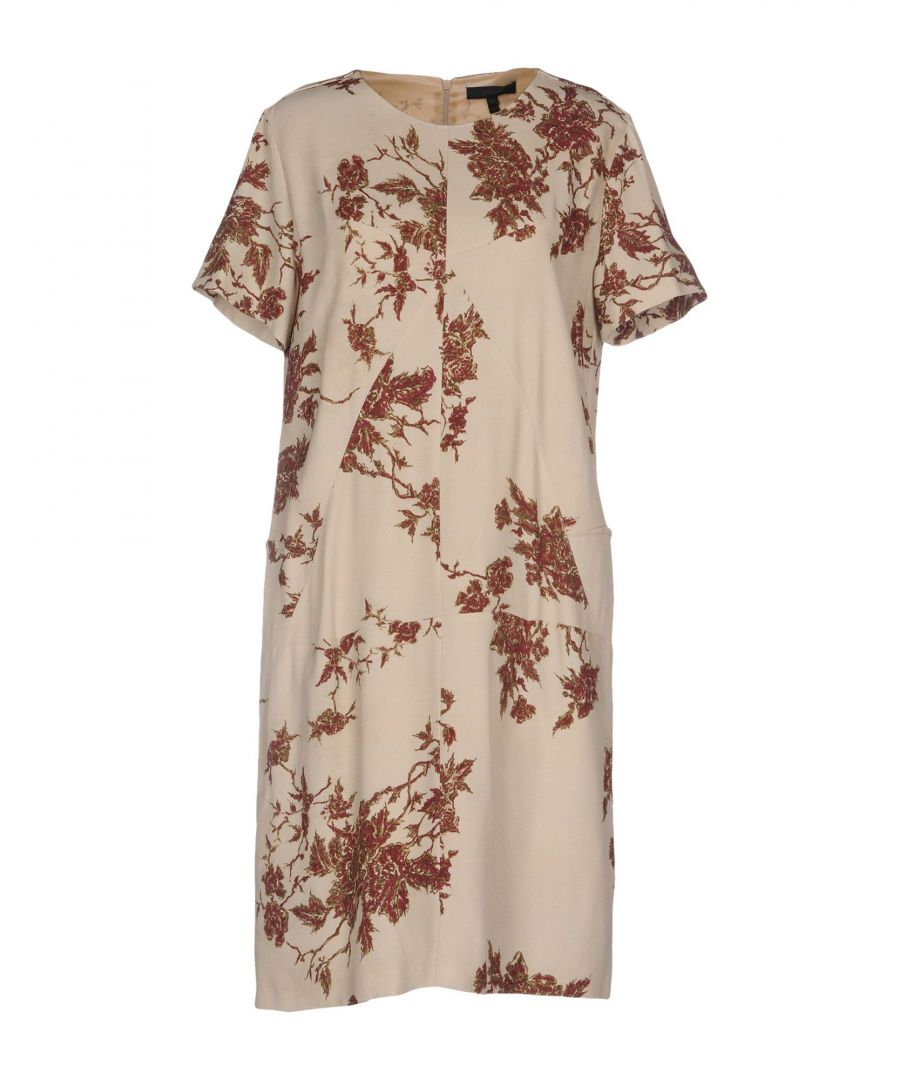 Image for Belstaff Beige Print Short Sleeve Dress