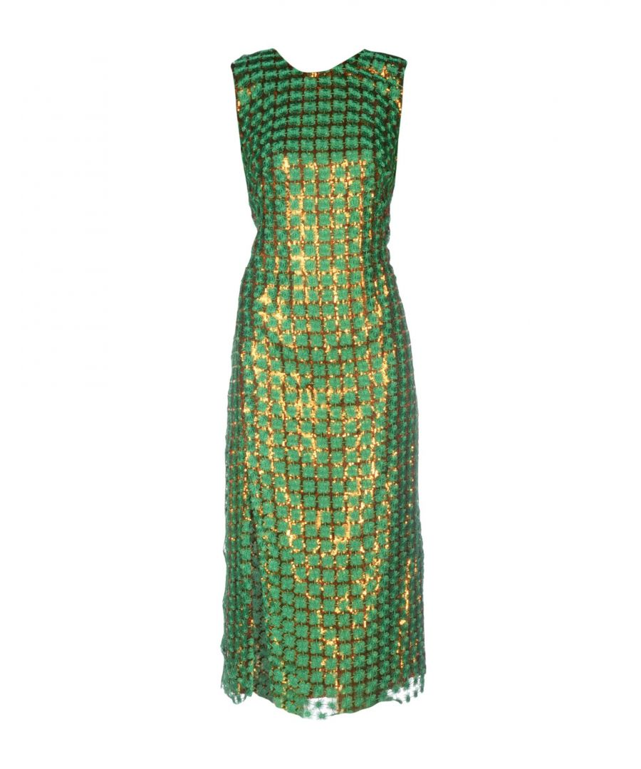 Image for Marco De Vincenzo Green Lace Sequinned Dress