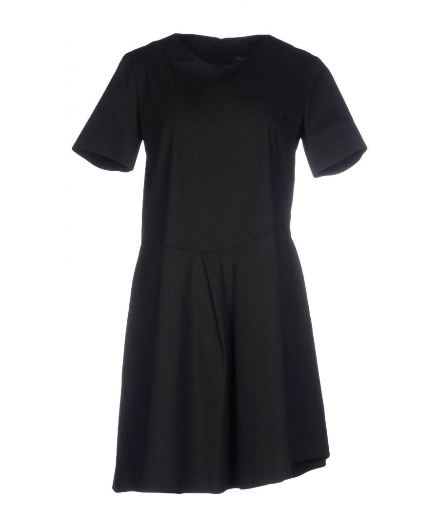Image for Antonelli Black Cotton Short Sleeve Dress
