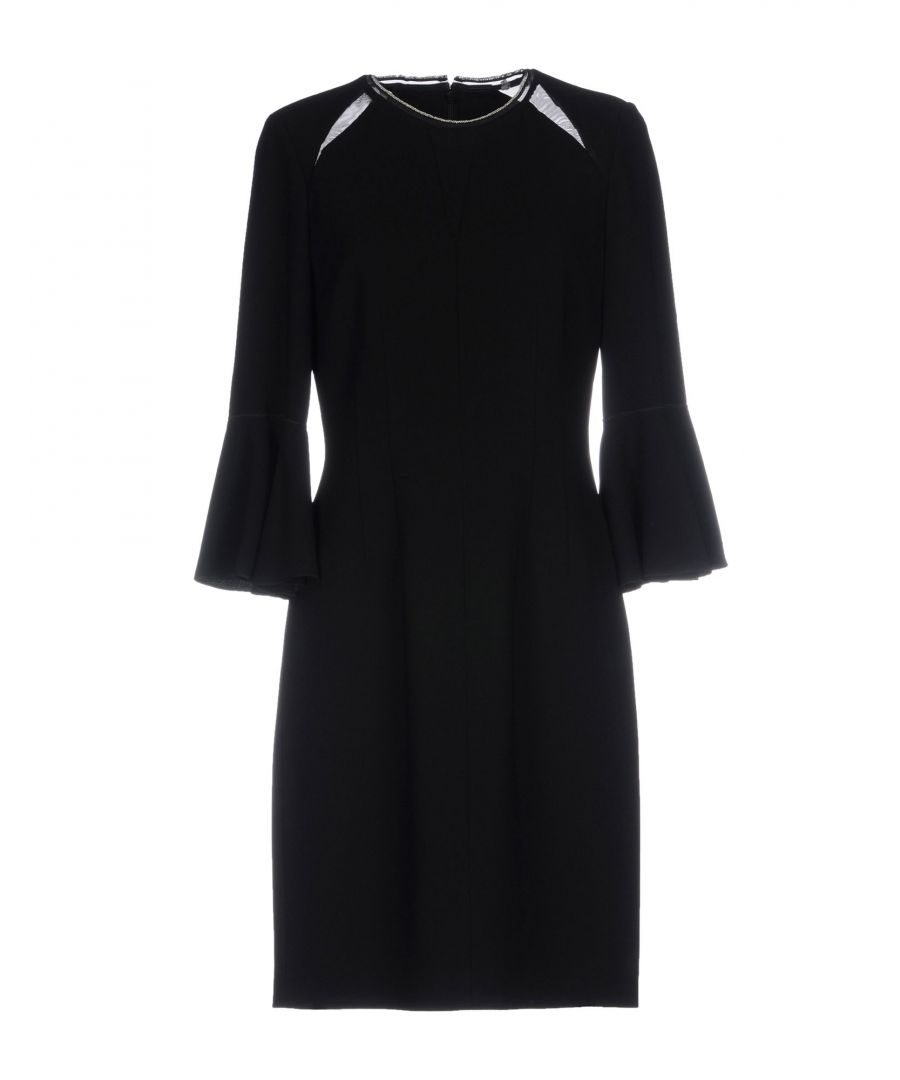 Image for Elie Tahari Black Crepe Dress With Three Quarter Length Sleeves