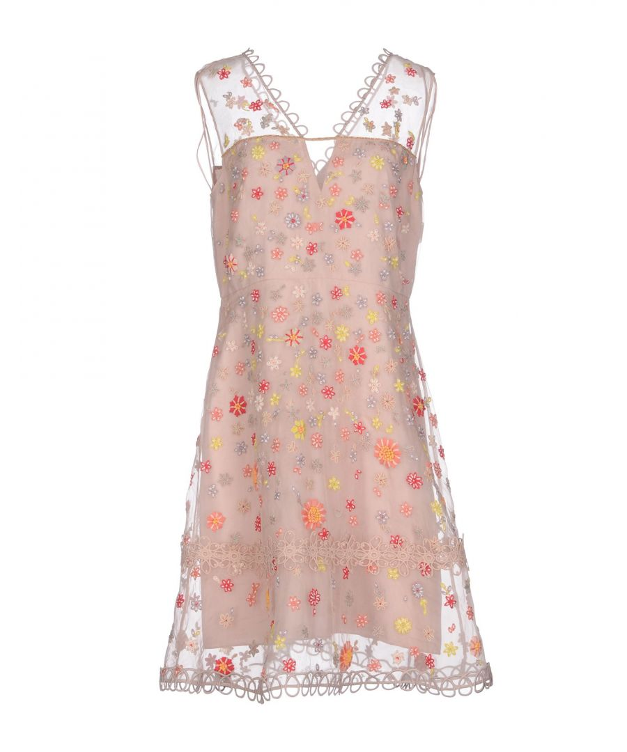 Image for Elie Tahari Pink Silk And Lace Dress