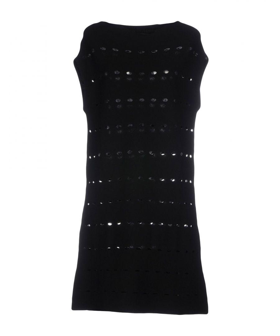 Image for Tortona 21 Black Knit Sleeveless Dress