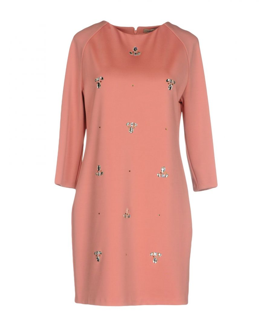 Image for Betty Blue Pink Embellished Long Sleeve Dress