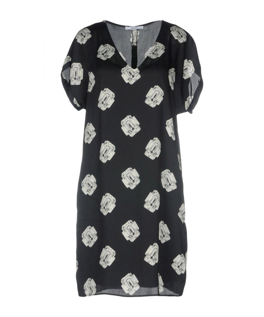 Image for Liu Jo Steel Grey Print Short Sleeve Dress