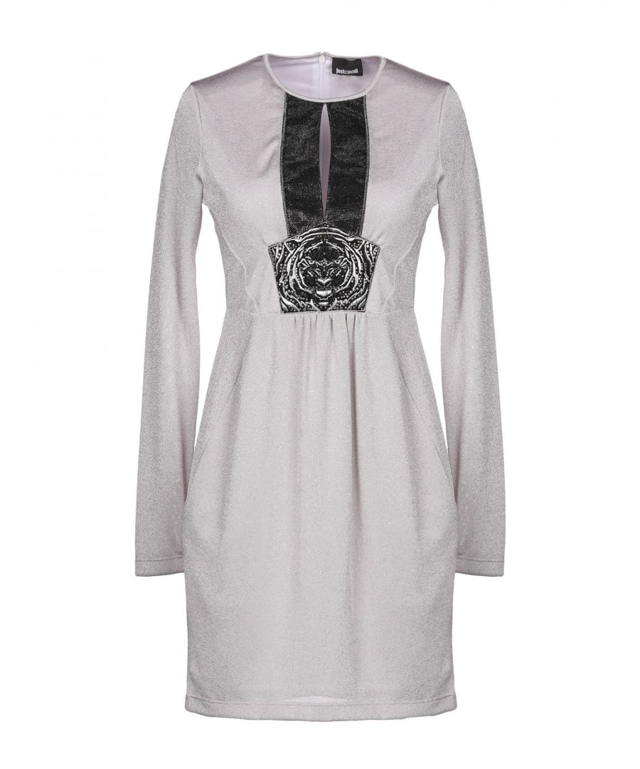 Image for Just Cavalli Dove Grey Long Sleeve Dress