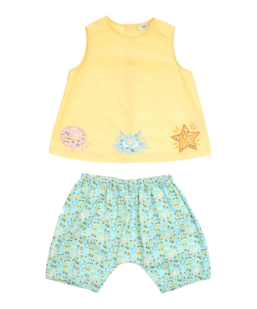 Image for Fendi Yellow Girl Cotton Set