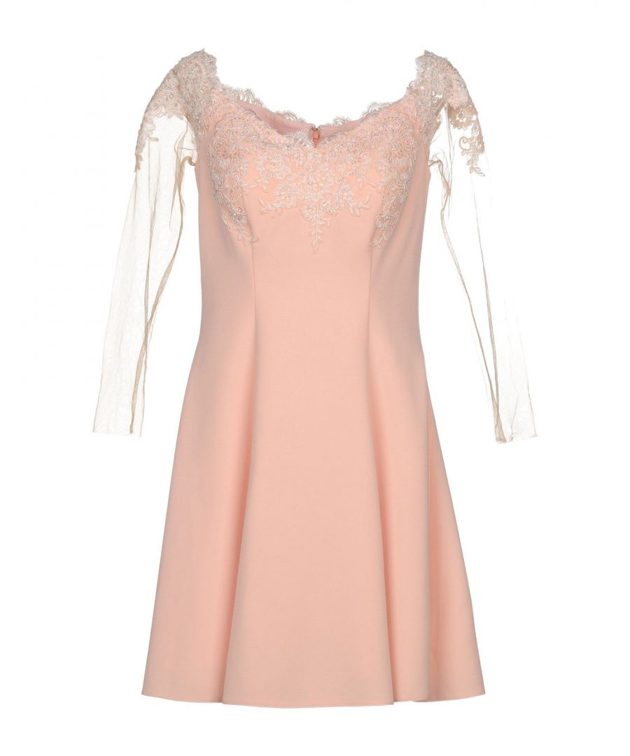 Image for Forever Unique Salmon Pink Lace Dress