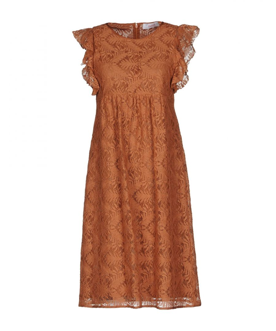 Image for Jucca Brown Cotton Lace Dress