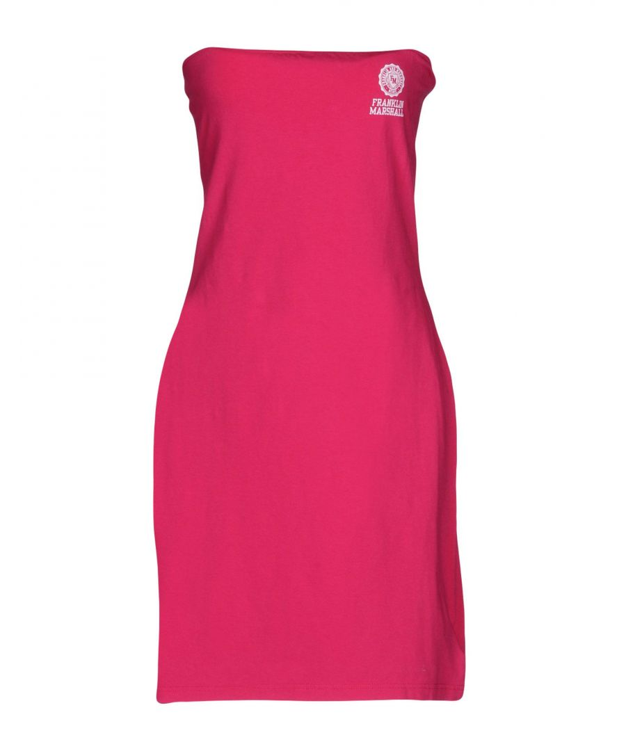 Image for Franklin & Marshall Fuchsia Cotton Strapless Dress