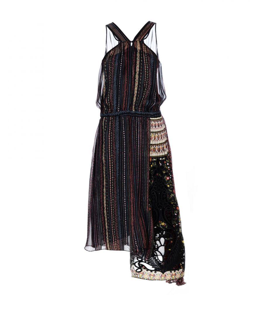 Image for N°21 Black Floral Silk Dress