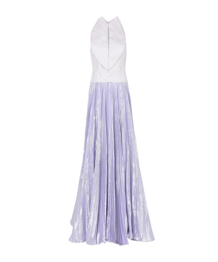 Image for Genny Lilac Pleated Full Length Dress