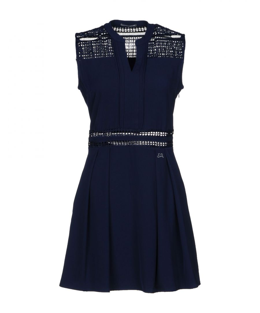 Image for Yes Zee By Essenza Dark Blue Crepe Dress