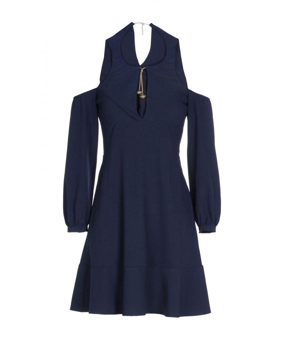 Image for Twinset Dark Blue Cold Shoulder Dress